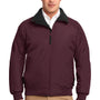 Port Authority Mens Challenger Wind & Water Resistant Full Zip Jacket - Maroon/True Black