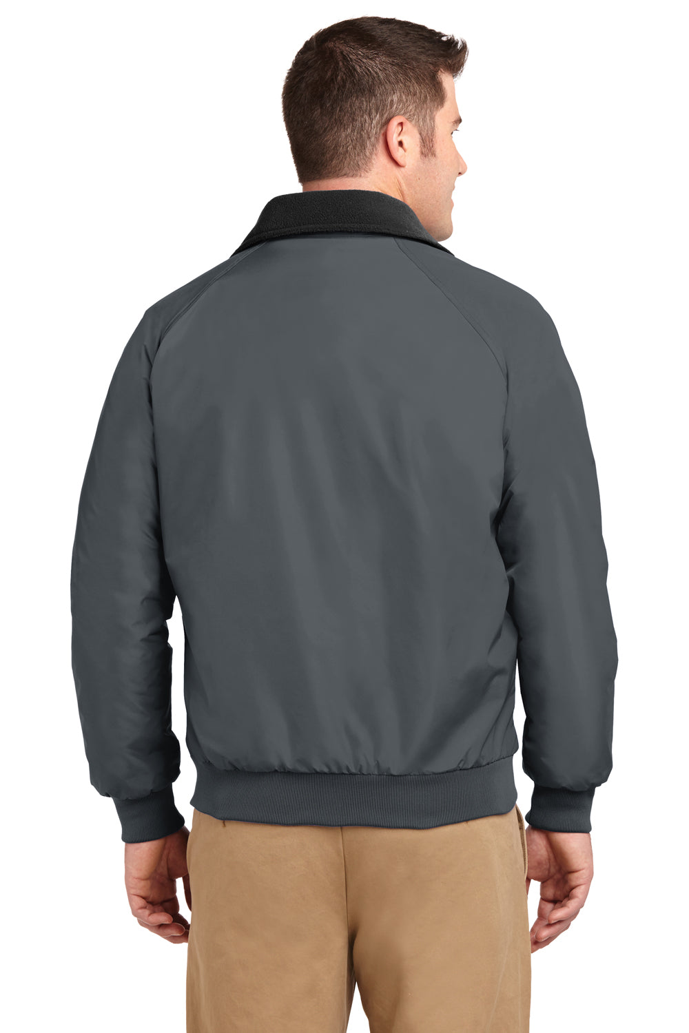 Port Authority J754 Mens Challenger Wind & Water Resistant Full Zip Jacket Steel Grey Back