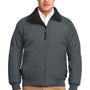 Port Authority Mens Challenger Wind & Water Resistant Full Zip Jacket - Steel Grey/True Black