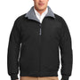 Port Authority Mens Challenger Wind & Water Resistant Full Zip Jacket - True Black/Heather Grey