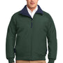 Port Authority Mens Challenger Wind & Water Resistant Full Zip Jacket - True Hunter Green/True Navy Blue