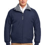 Port Authority Mens Challenger Wind & Water Resistant Full Zip Jacket - True Navy Blue/Heather Grey