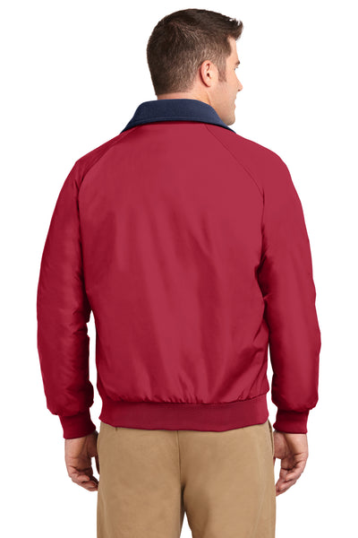 Port Authority J754 Mens Challenger Wind & Water Resistant Full Zip Jacket Red Back