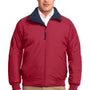 Port Authority Mens Challenger Wind & Water Resistant Full Zip Jacket - True Red/True Navy Blue