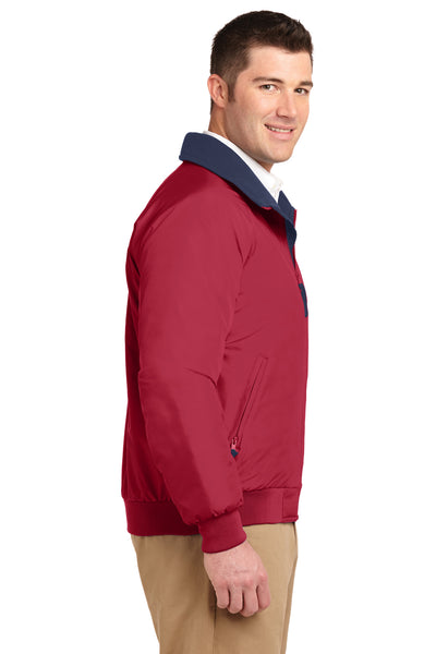 Port Authority J754 Mens Challenger Wind & Water Resistant Full Zip Jacket Red Side