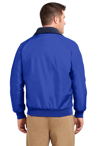 Port Authority J754 Mens Challenger Wind & Water Resistant Full Zip Jacket Royal Blue Back