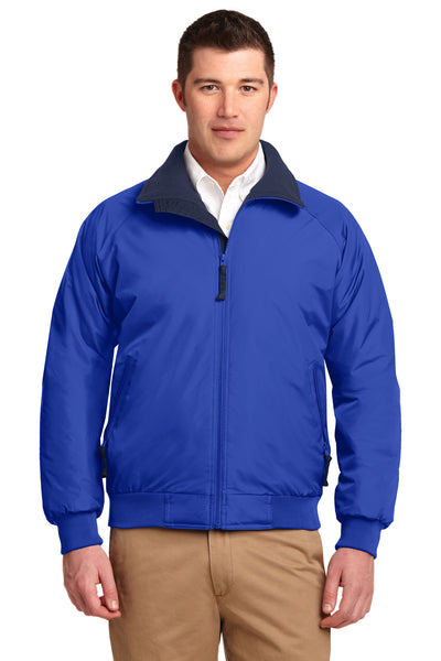 Port Authority J754 Mens Challenger Wind & Water Resistant Full Zip Jacket Royal Blue Front