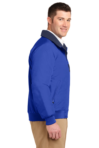 Port Authority J754 Mens Challenger Wind & Water Resistant Full Zip Jacket Royal Blue Side