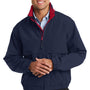 Port Authority Mens Legacy Wind & Water Resistant Full Zip Hooded Jacket - Dark Navy Blue/Red