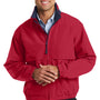 Port Authority Mens Legacy Wind & Water Resistant Full Zip Hooded Jacket - Red/Dark Navy Blue