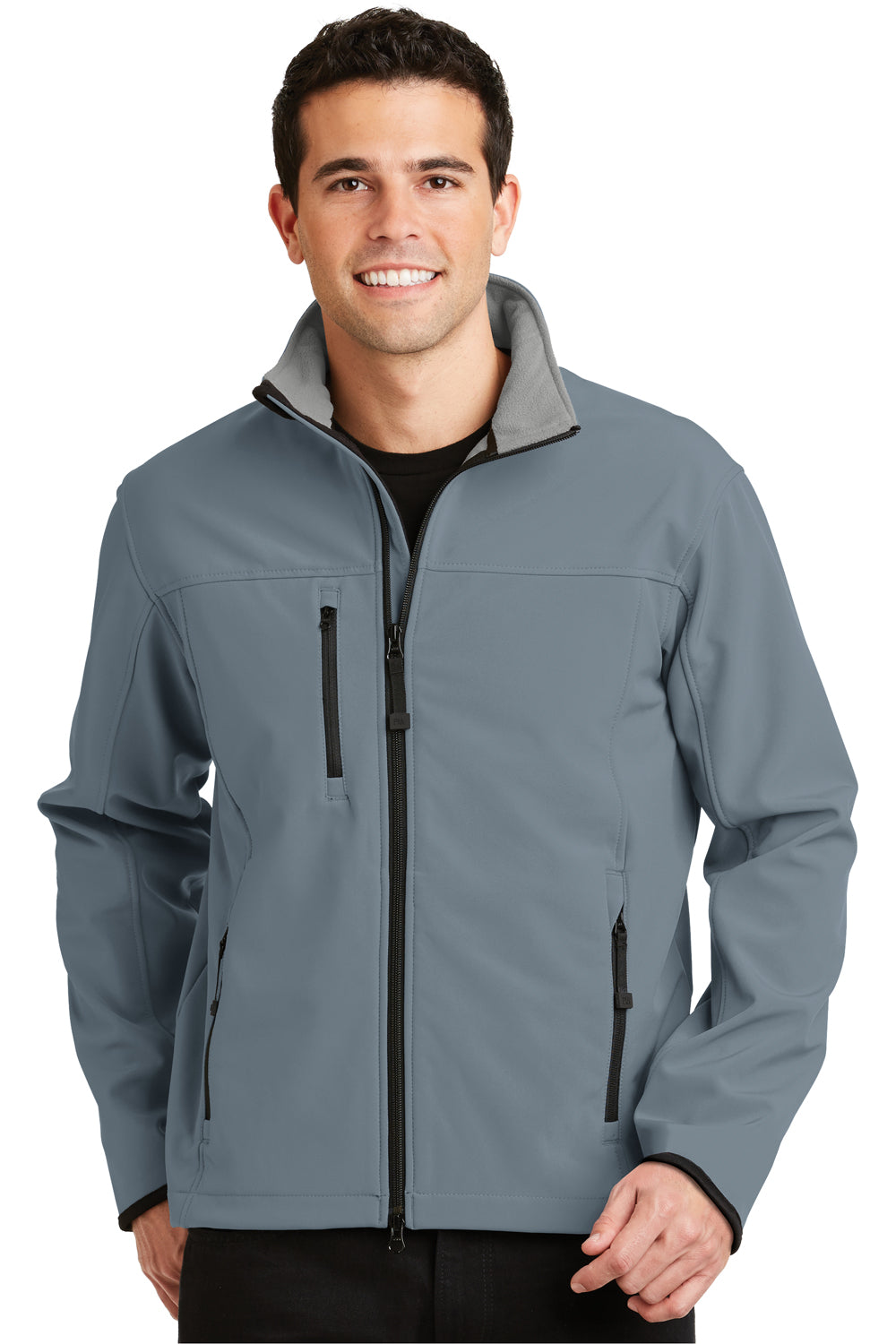 Port Authority J790 Mens Glacier Wind & Water Resistant Full Zip Jacket Atlantic Blue Front
