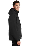Port Authority J792 Mens Nootka Waterproof Full Zip Hooded Jacket Black Side
