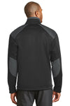 Port Authority J794 Mens Wind & Water Resistant Full Zip Jacket Black/Grey Back