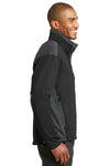 Port Authority J794 Mens Wind & Water Resistant Full Zip Jacket Black/Grey Side