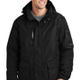 Port Authority Mens Waterproof Full Zip Hooded Jacket - Black