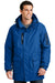 Port Authority J799 Mens Waterproof Full Zip Hooded Jacket Royal Blue Front