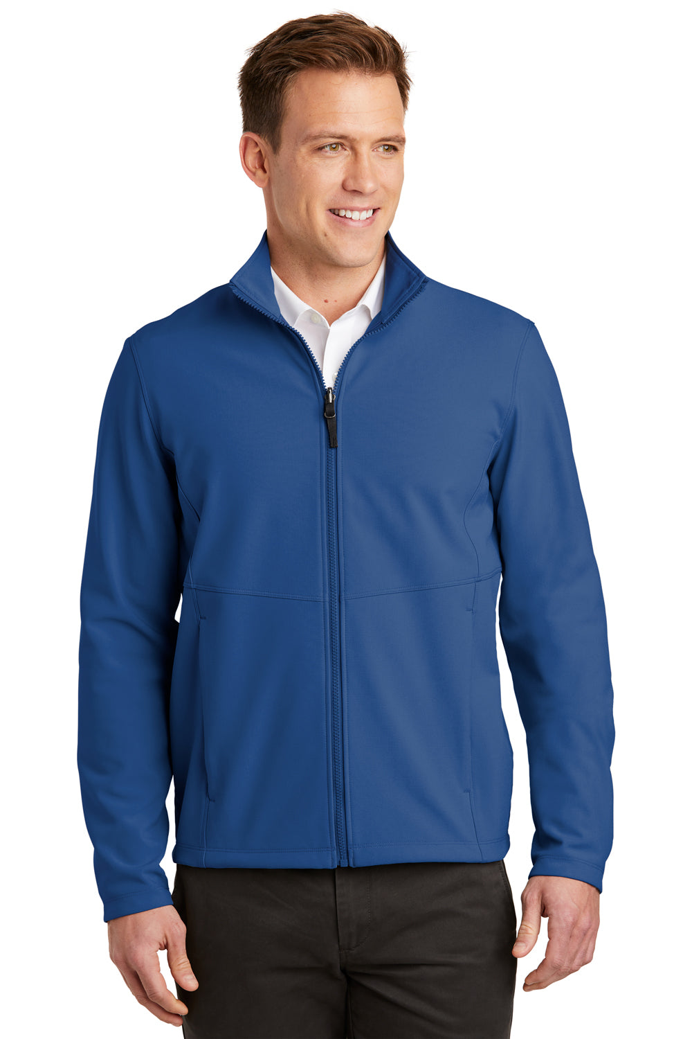 Port Authority J901 Mens Collective Wind & Water Resistant Full Zip Jacket Night Sky Blue Front