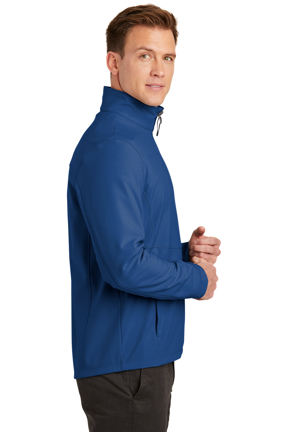 Port Authority J901 Mens Collective Wind & Water Resistant Full Zip Jacket Night Sky Blue Side