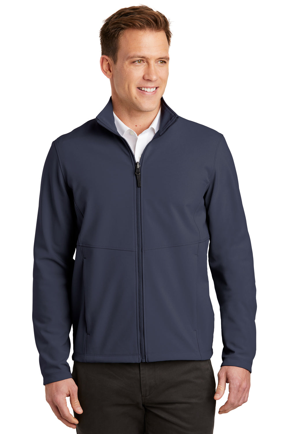 Port Authority J901 Mens Collective Wind & Water Resistant Full Zip Jacket River Blue Front