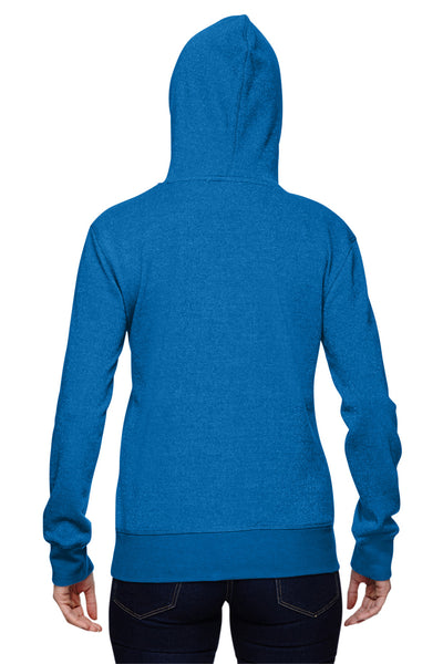 J America JA8860 Womens Glitter French Terry Hooded Sweatshirt Hoodie Royal Blue Back
