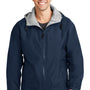 Port Authority Mens Team Wind & Water Resistant Full Zip Hooded Jacket - Bright Navy Blue