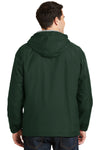 Port Authority JP56 Mens Team Wind & Water Resistant Full Zip Hooded Jacket Hunter Green Back