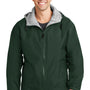 Port Authority Mens Team Wind & Water Resistant Full Zip Hooded Jacket - Hunter Green