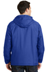 Port Authority JP56 Mens Team Wind & Water Resistant Full Zip Hooded Jacket Royal Blue Back