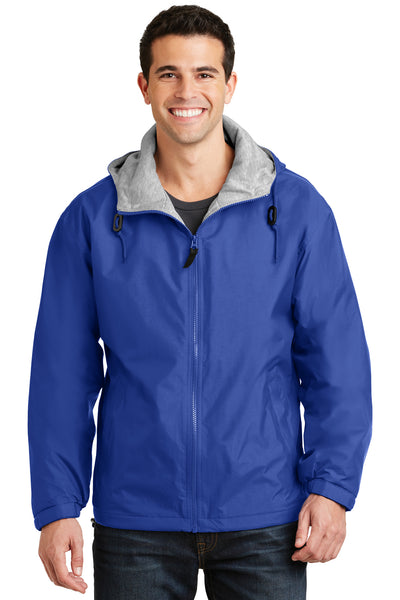 Port Authority JP56 Mens Team Wind & Water Resistant Full Zip Hooded Jacket Royal Blue Front