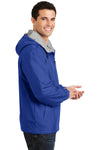 Port Authority JP56 Mens Team Wind & Water Resistant Full Zip Hooded Jacket Royal Blue Side