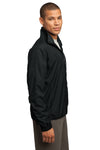 Sport-Tek JST70 Mens Water Resistant Full Zip Wind Jacket Black Side