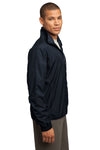 Sport-Tek JST70 Mens Water Resistant Full Zip Wind Jacket Navy Blue Side
