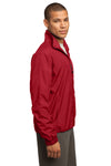 Sport-Tek JST70 Mens Water Resistant Full Zip Wind Jacket Red Side