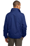 Sport-Tek JST70 Mens Water Resistant Full Zip Wind Jacket Royal Blue Back