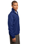 Sport-Tek JST70 Mens Water Resistant Full Zip Wind Jacket Royal Blue Side