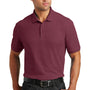 Port Authority Mens Core Classic Short Sleeve Polo Shirt - Burgundy