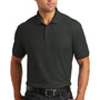 Port Authority Mens Core Classic Short Sleeve Polo Shirt - Black