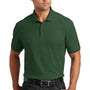 Port Authority Mens Core Classic Short Sleeve Polo Shirt - Deep Forest Green