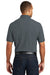 Port Authority K100 Mens Core Classic Short Sleeve Polo Shirt Graphite Grey Back