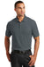 Port Authority K100 Mens Core Classic Short Sleeve Polo Shirt Graphite Grey Front