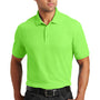 Port Authority Mens Core Classic Short Sleeve Polo Shirt - Lime Green - Closeout