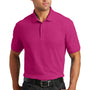 Port Authority Mens Core Classic Short Sleeve Polo Shirt - Azalea Pink