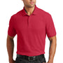 Port Authority Mens Core Classic Short Sleeve Polo Shirt - Rich Red