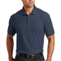 Port Authority Mens Core Classic Short Sleeve Polo Shirt - River Navy Blue