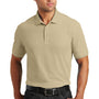 Port Authority Mens Core Classic Short Sleeve Polo Shirt - Wheat - Closeout