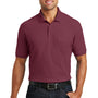 Port Authority Mens Core Classic Short Sleeve Polo Shirt w/ Pocket - Burgundy