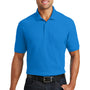 Port Authority Mens Core Classic Short Sleeve Polo Shirt w/ Pocket - Coastal Blue