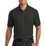 Port Authority Mens Core Classic Short Sleeve Polo Shirt w/ Pocket - Deep Black