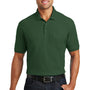 Port Authority Mens Core Classic Short Sleeve Polo Shirt w/ Pocket - Deep Forest Green