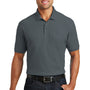 Port Authority Mens Core Classic Short Sleeve Polo Shirt w/ Pocket - Graphite Grey